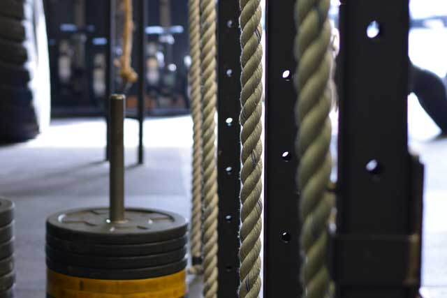 Ropes and gym equipment